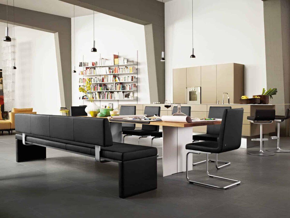 Rolf Benz eetkamerbank