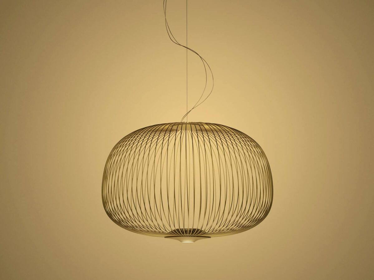 Foscarini hanglamp Spokes3 goud