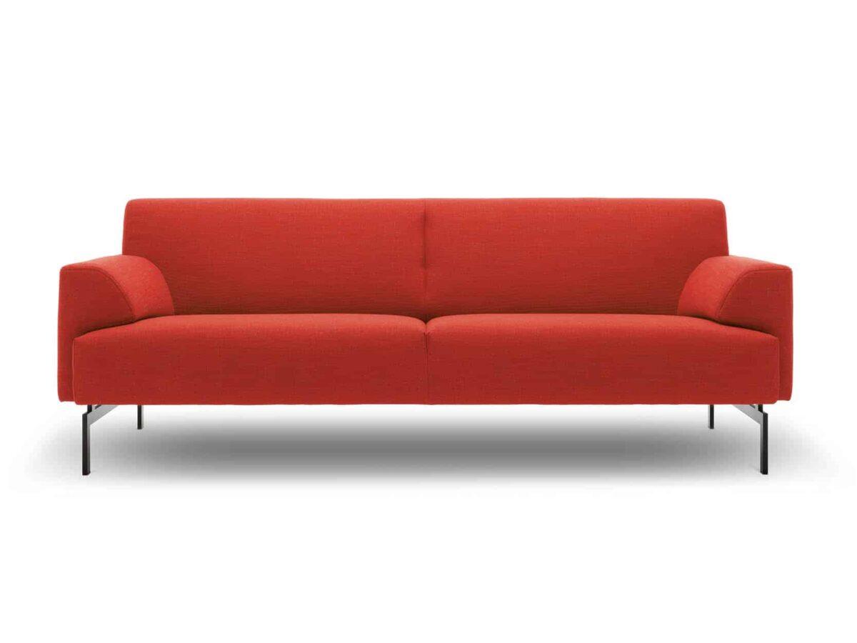 Rolf Benz bank rood